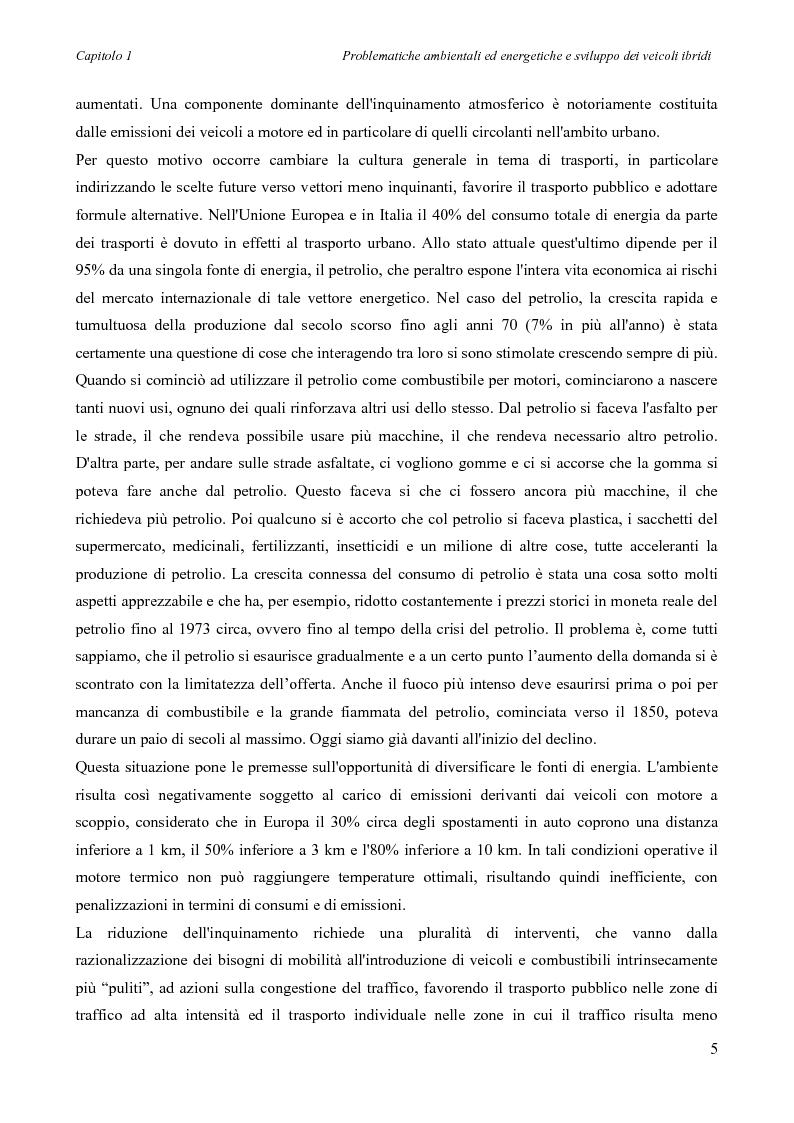 Anteprima della tesi: Sintesi e simulazione di un modello per la gestione dei flussi energetici in un veicolo ibrido., Pagina 8