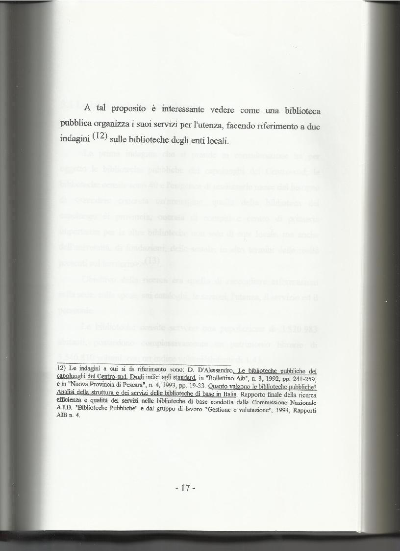 Anteprima della tesi: Le biblioteche pubbliche nella provincia di Viterbo: situazione attuale e ipotesi di riorganizzazione, Pagina 13