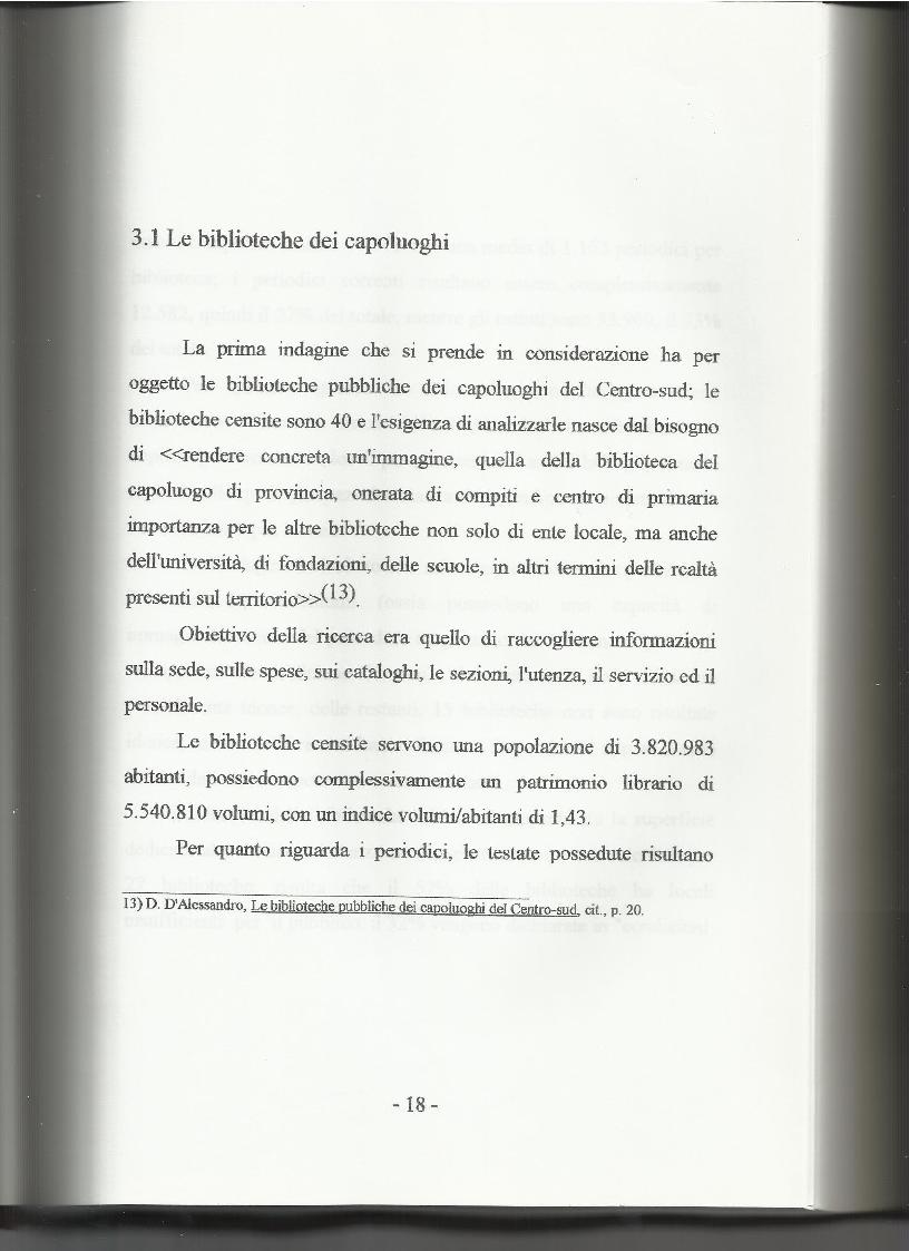 Anteprima della tesi: Le biblioteche pubbliche nella provincia di Viterbo: situazione attuale e ipotesi di riorganizzazione, Pagina 14