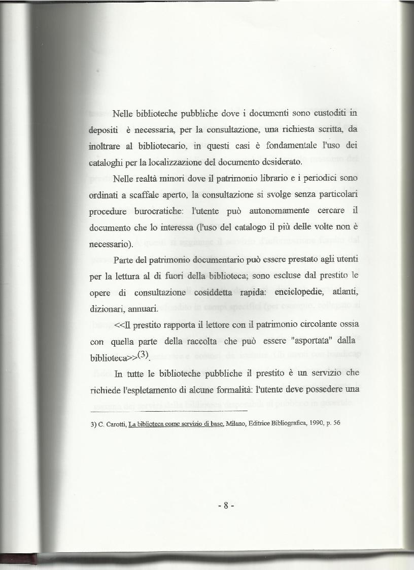 Anteprima della tesi: Le biblioteche pubbliche nella provincia di Viterbo: situazione attuale e ipotesi di riorganizzazione, Pagina 4