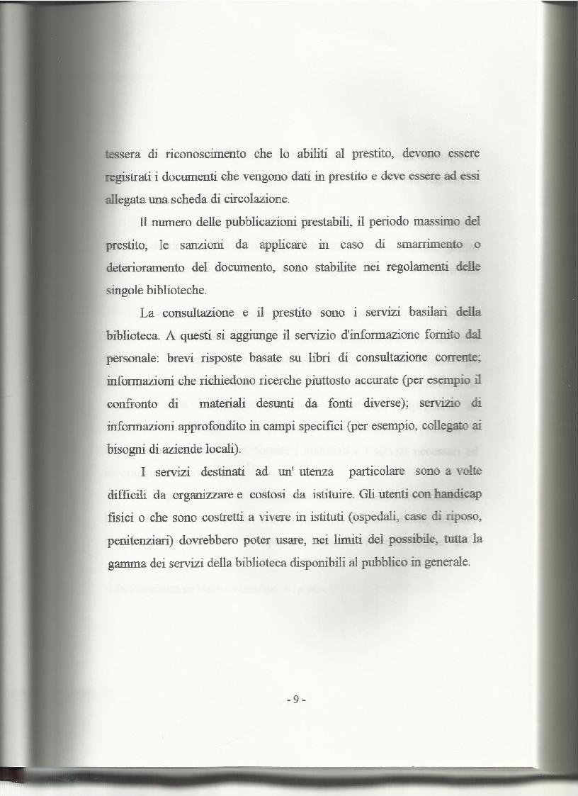 Anteprima della tesi: Le biblioteche pubbliche nella provincia di Viterbo: situazione attuale e ipotesi di riorganizzazione, Pagina 5