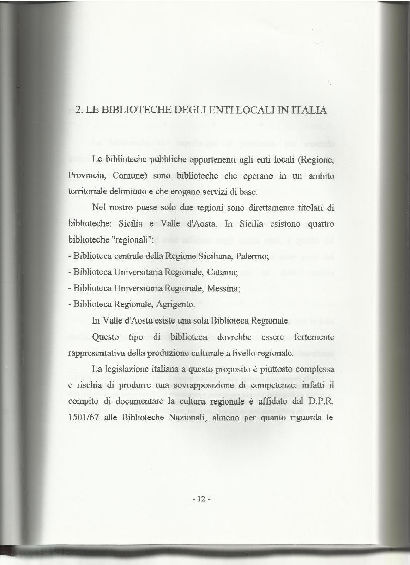 Anteprima della tesi: Le biblioteche pubbliche nella provincia di Viterbo: situazione attuale e ipotesi di riorganizzazione, Pagina 8