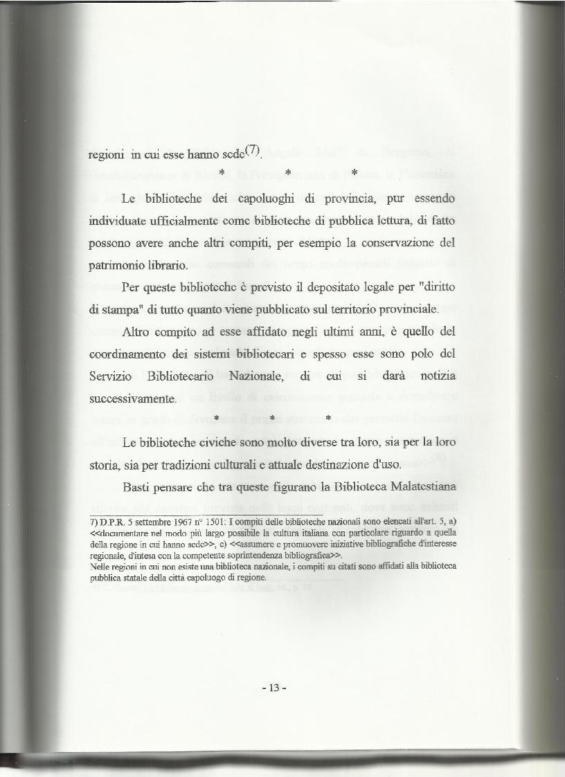 Anteprima della tesi: Le biblioteche pubbliche nella provincia di Viterbo: situazione attuale e ipotesi di riorganizzazione, Pagina 9