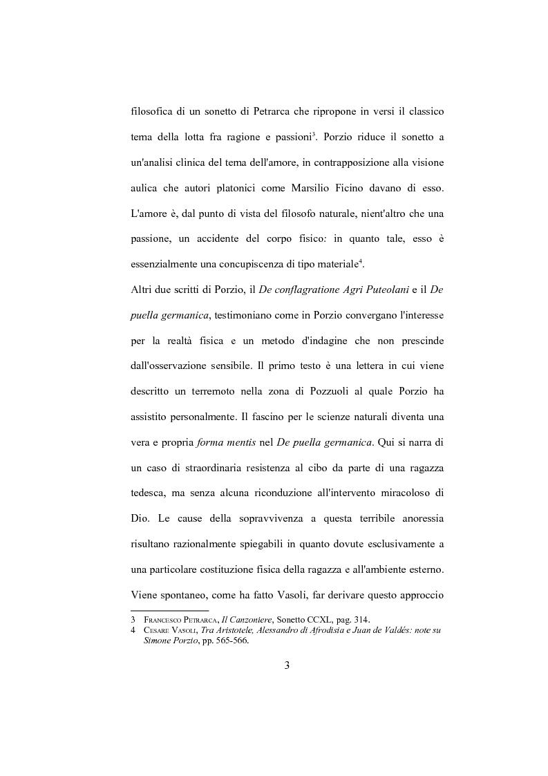 """Anteprima della tesi: La """"De Humana mente disputatio"""" di Simone Porzio, Pagina 4"""
