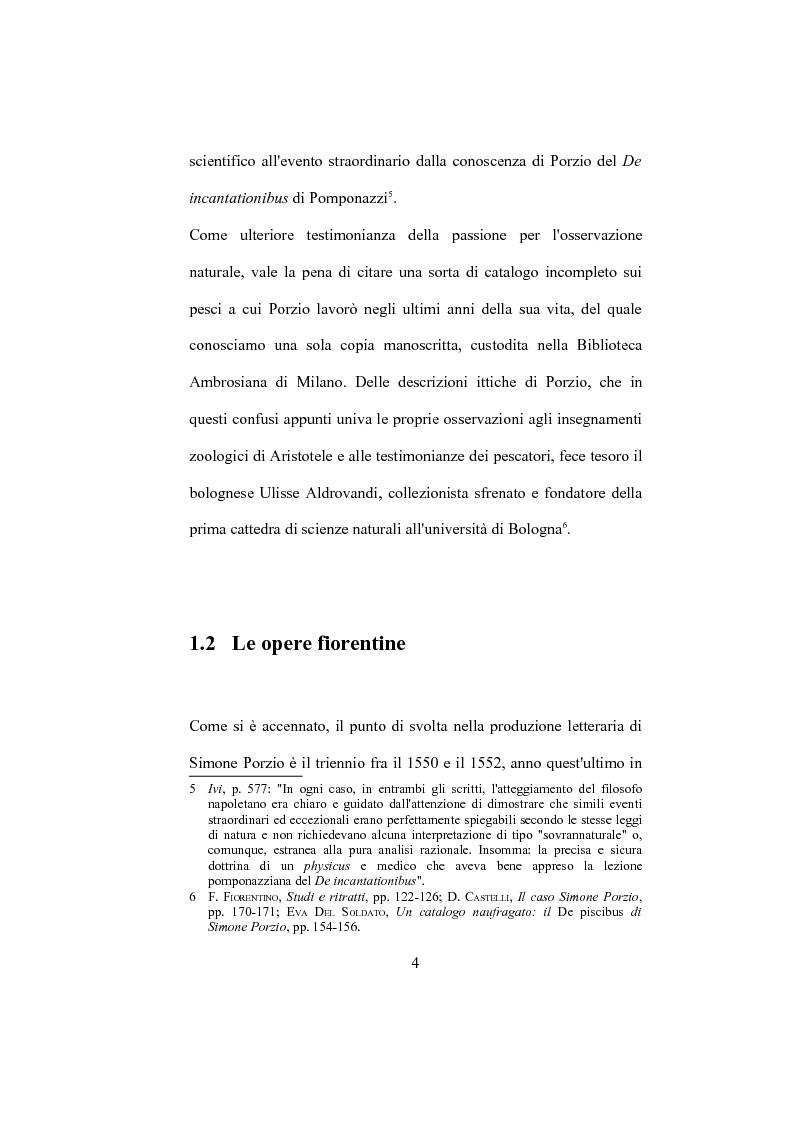 """Anteprima della tesi: La """"De Humana mente disputatio"""" di Simone Porzio, Pagina 5"""