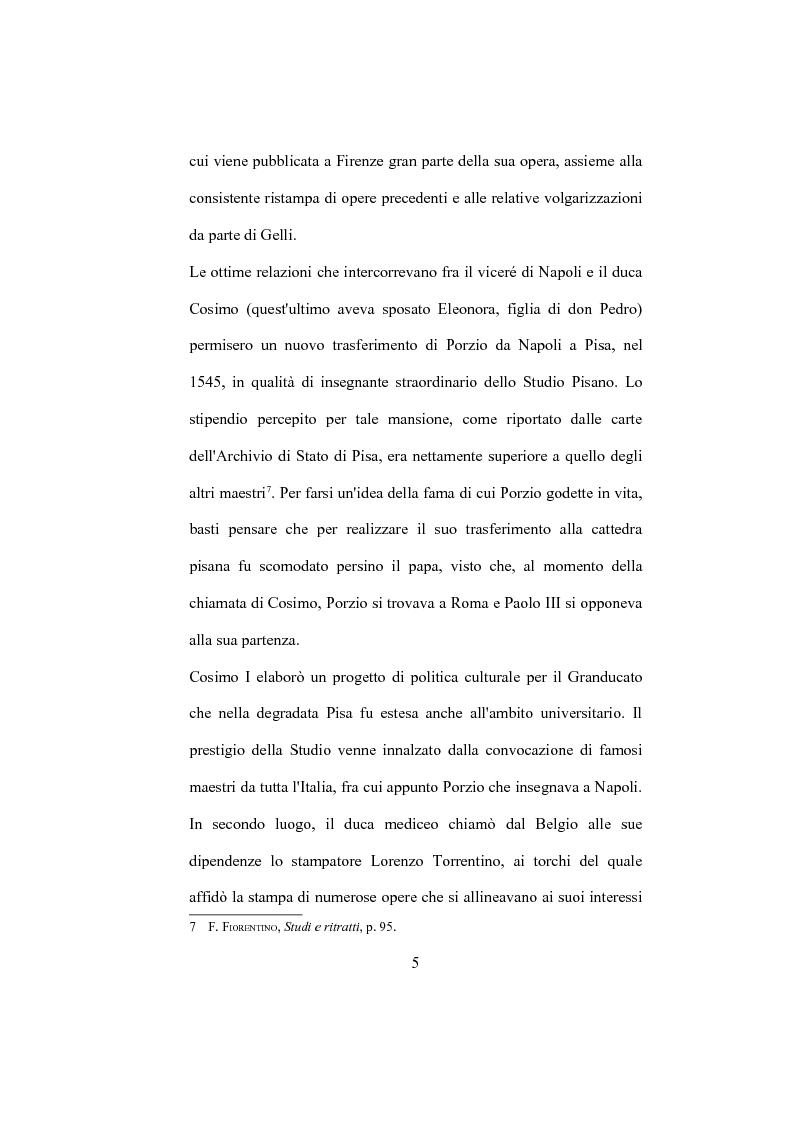 """Anteprima della tesi: La """"De Humana mente disputatio"""" di Simone Porzio, Pagina 6"""