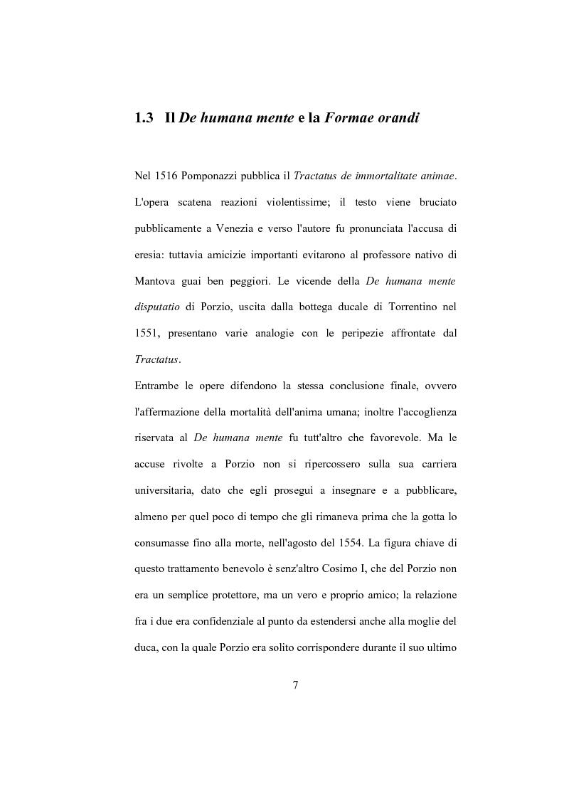 """Anteprima della tesi: La """"De Humana mente disputatio"""" di Simone Porzio, Pagina 8"""
