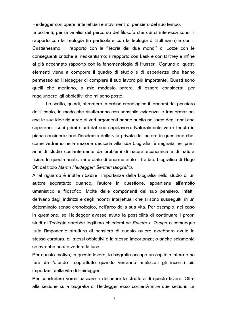 """Anteprima della tesi: Fenomenologia e reminiscenze teologiche: aspetti del percorso filosofico del """"primo"""" Heidegger, Pagina 4"""