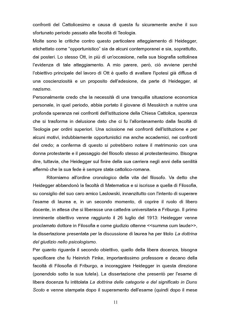 """Anteprima della tesi: Fenomenologia e reminiscenze teologiche: aspetti del percorso filosofico del """"primo"""" Heidegger, Pagina 8"""