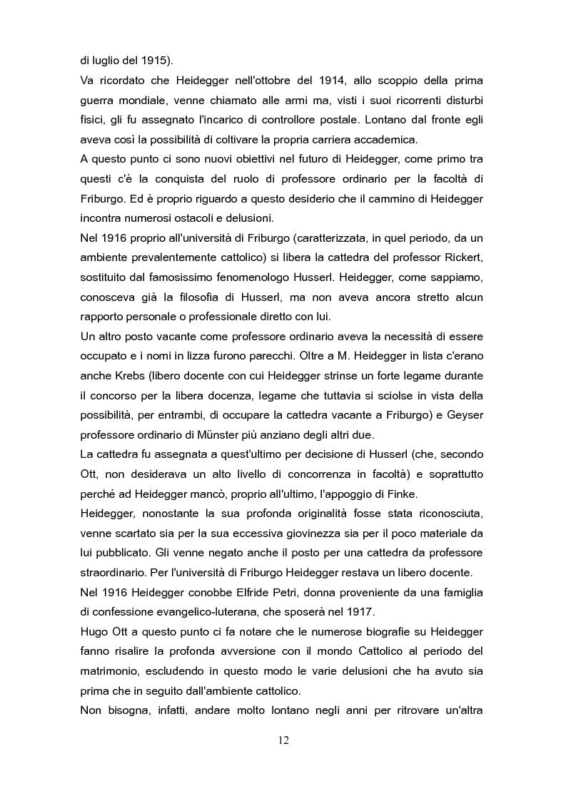 """Anteprima della tesi: Fenomenologia e reminiscenze teologiche: aspetti del percorso filosofico del """"primo"""" Heidegger, Pagina 9"""