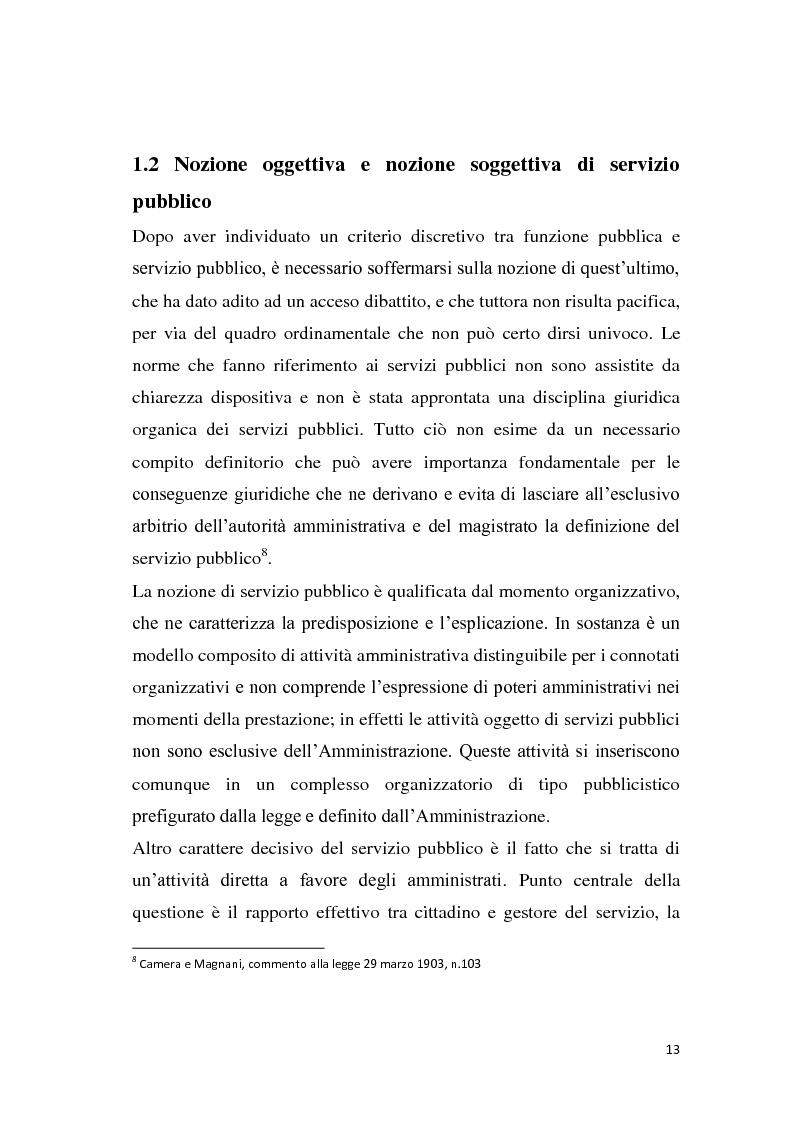 Anteprima della tesi: La riforma dei servizi pubblici locali, Pagina 10