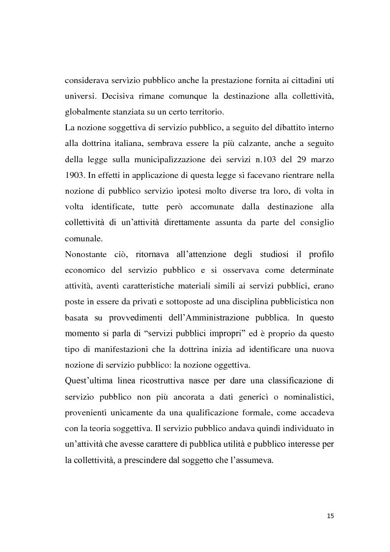 Anteprima della tesi: La riforma dei servizi pubblici locali, Pagina 12