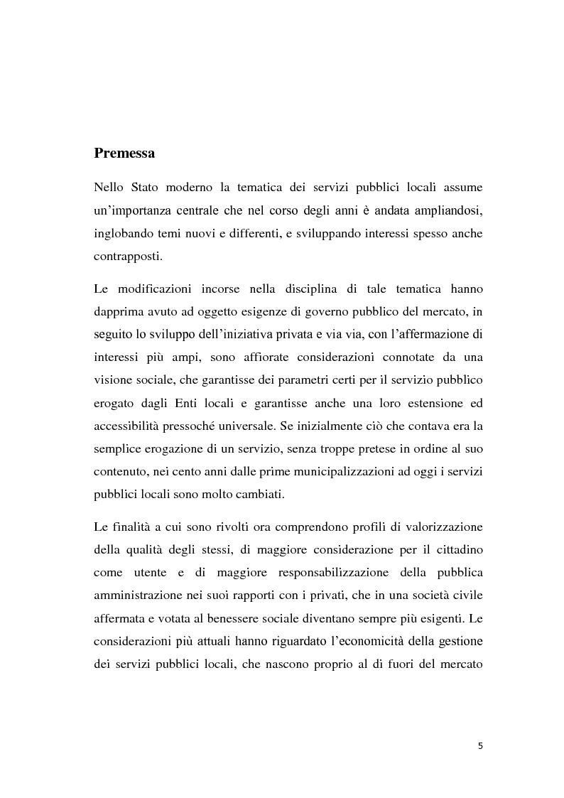 Anteprima della tesi: La riforma dei servizi pubblici locali, Pagina 2