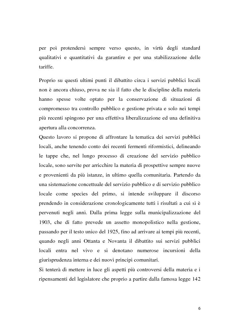 Anteprima della tesi: La riforma dei servizi pubblici locali, Pagina 3