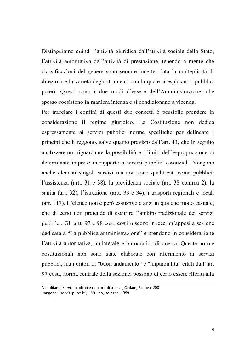 Anteprima della tesi: La riforma dei servizi pubblici locali, Pagina 6
