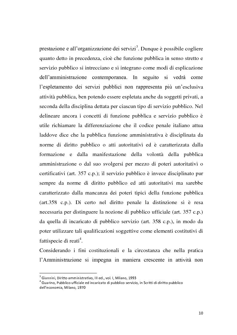 Anteprima della tesi: La riforma dei servizi pubblici locali, Pagina 7