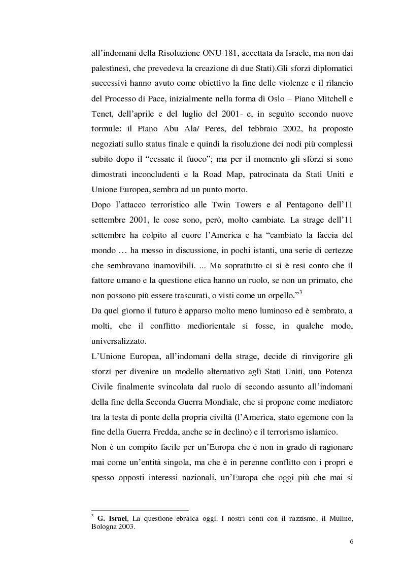 Anteprima della tesi: Il dibattito italiano sulla membership di Israele nell'Unione Europea, Pagina 4