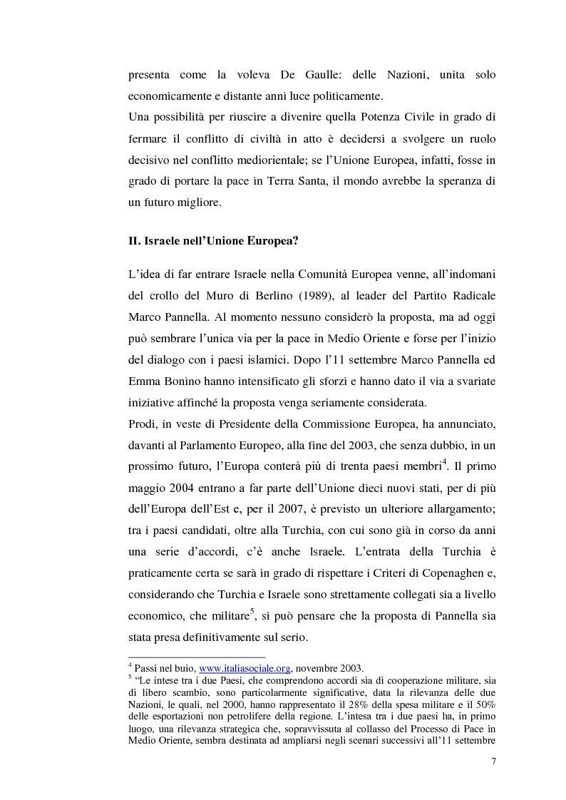 Anteprima della tesi: Il dibattito italiano sulla membership di Israele nell'Unione Europea, Pagina 5