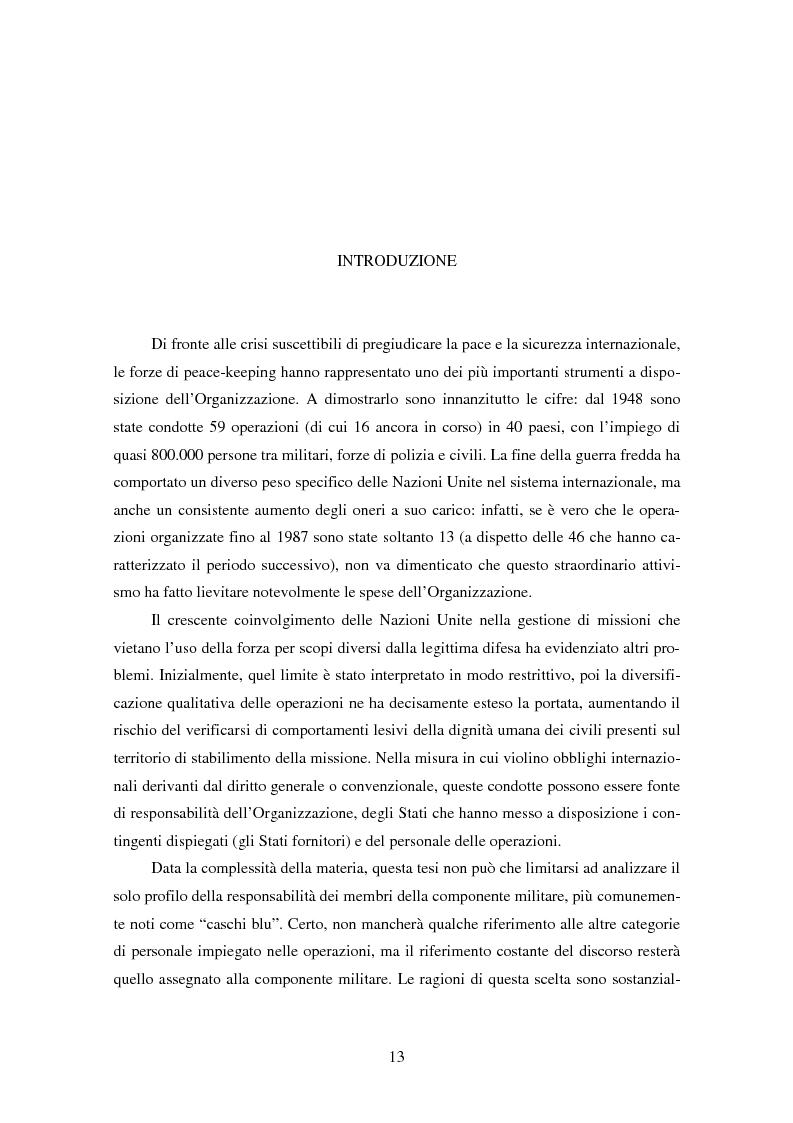 Anteprima della tesi: Le violazioni del diritto umanitario compiute di membri delle operazioni di mantenimento della pace, Pagina 2