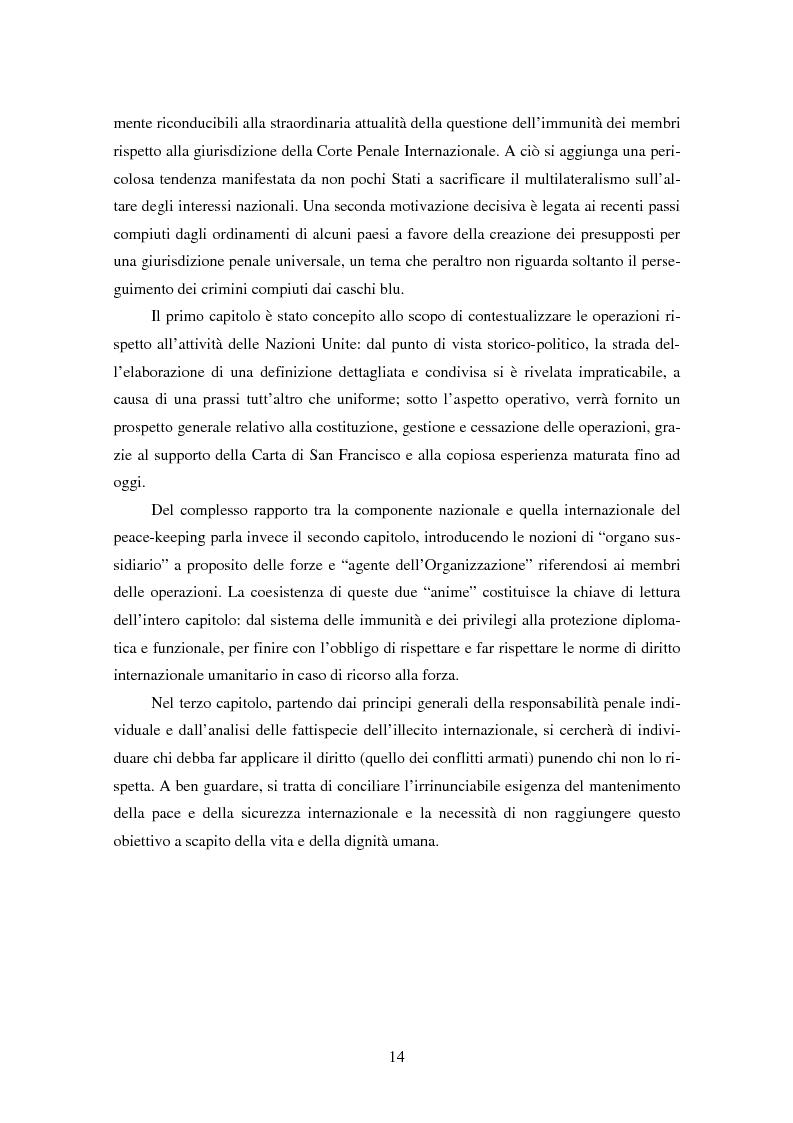 Anteprima della tesi: Le violazioni del diritto umanitario compiute di membri delle operazioni di mantenimento della pace, Pagina 3