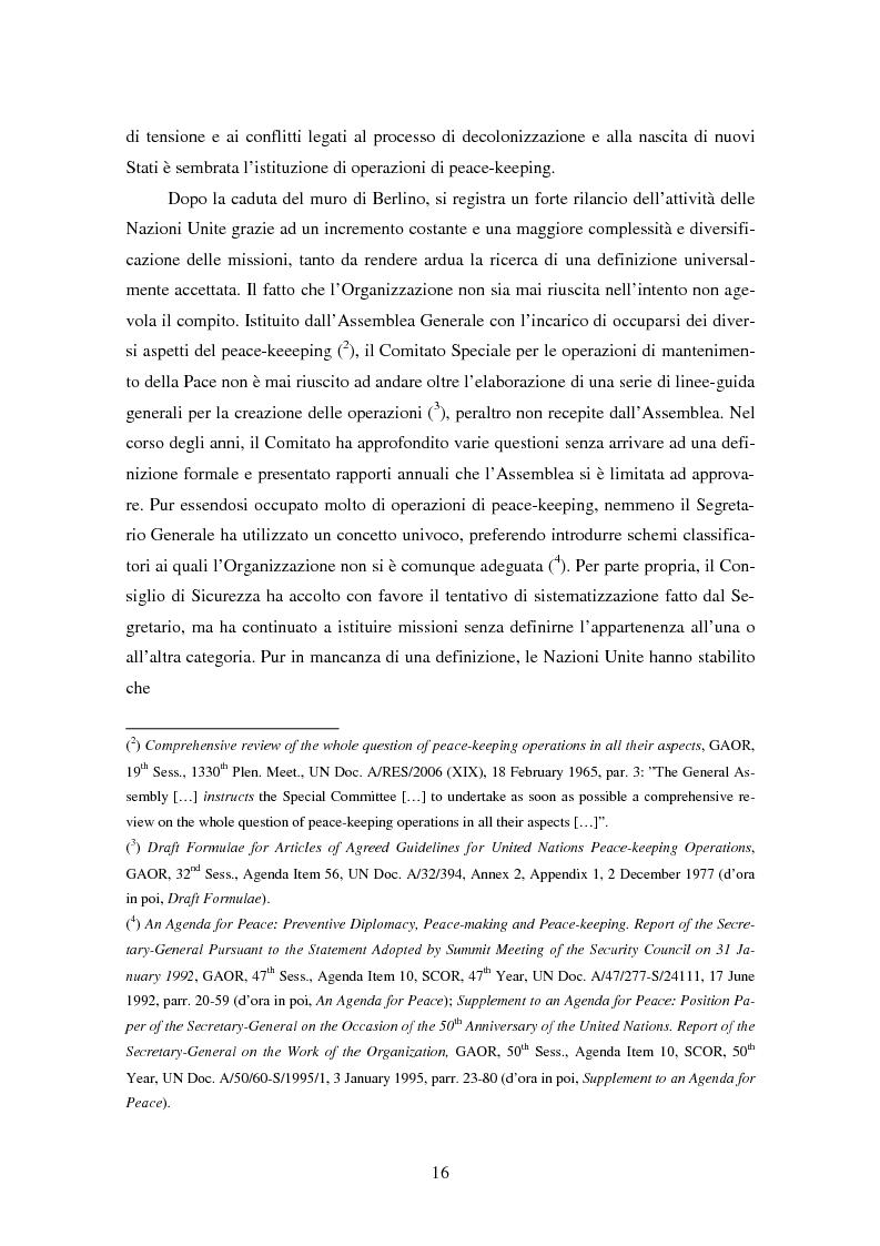 Anteprima della tesi: Le violazioni del diritto umanitario compiute di membri delle operazioni di mantenimento della pace, Pagina 5