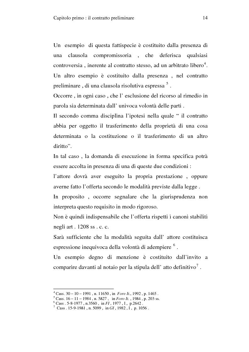 Anteprima della tesi: La trascrizione del contratto preliminare di compravendita immobiliare (diritto civile), Pagina 12