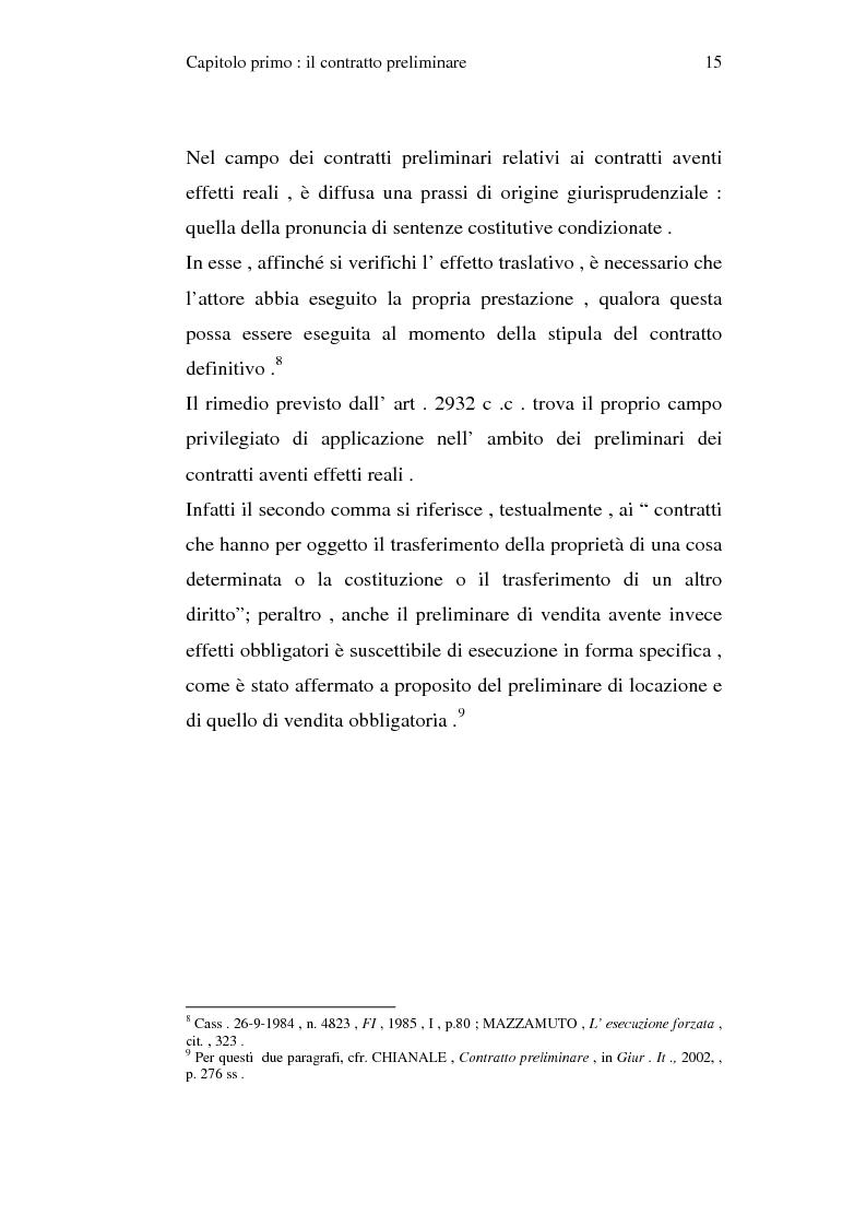 Anteprima della tesi: La trascrizione del contratto preliminare di compravendita immobiliare (diritto civile), Pagina 13
