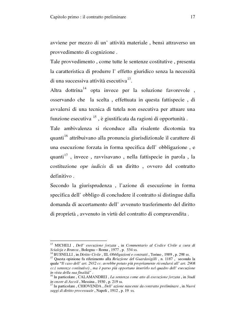 Anteprima della tesi: La trascrizione del contratto preliminare di compravendita immobiliare (diritto civile), Pagina 15