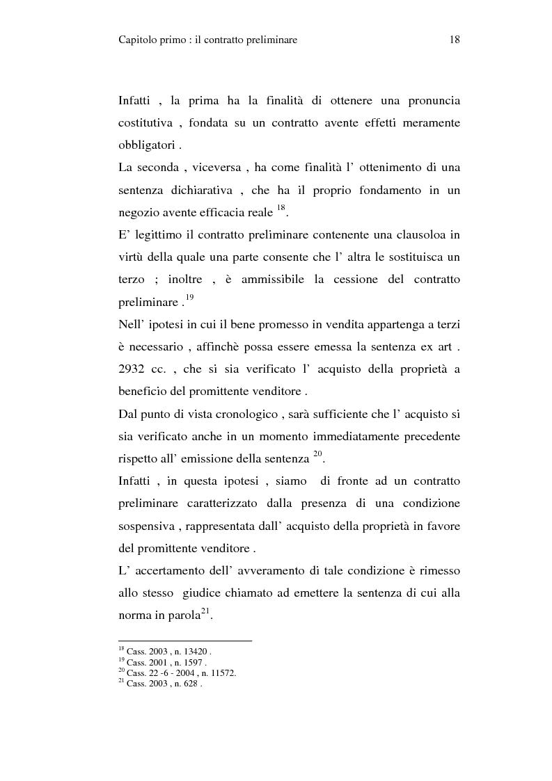 Anteprima della tesi: La trascrizione del contratto preliminare di compravendita immobiliare (diritto civile), Pagina 16
