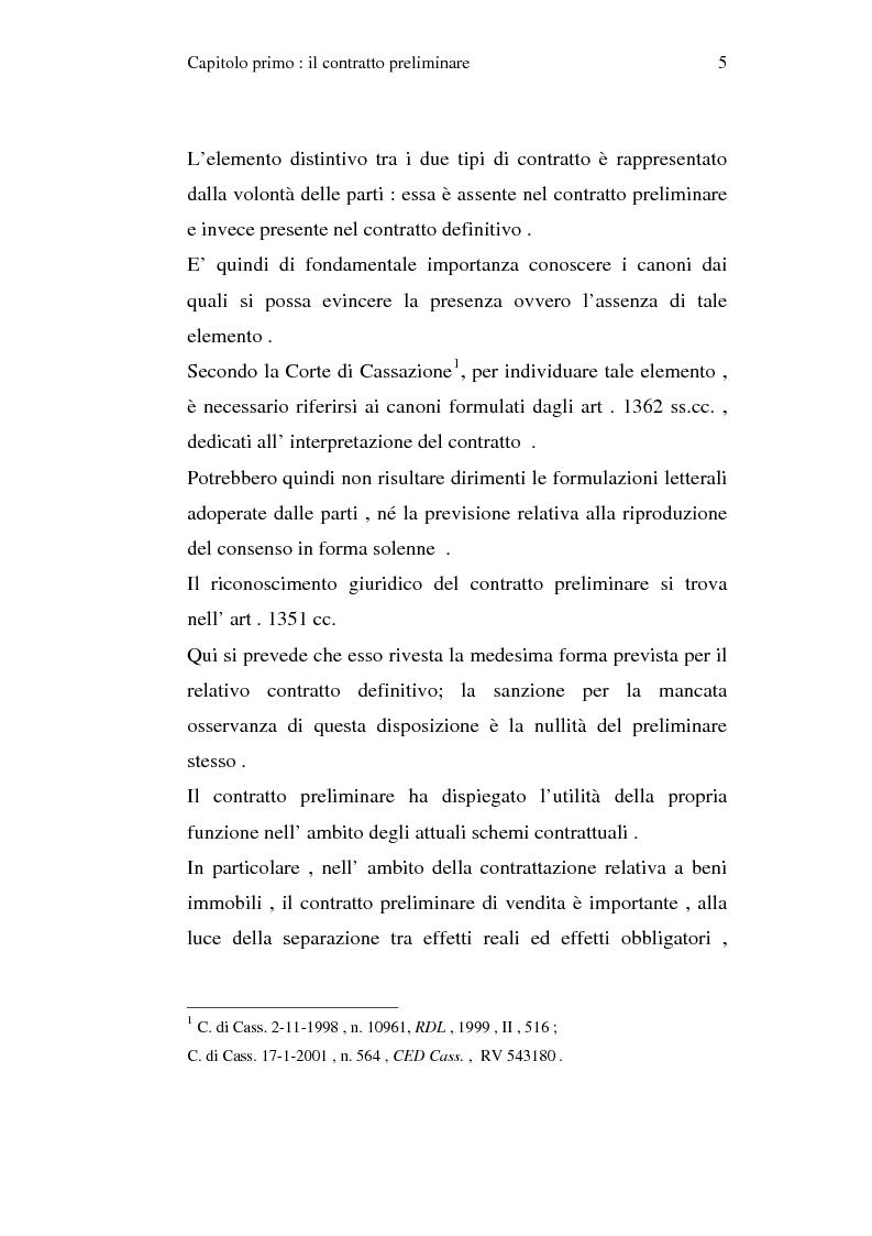 Anteprima della tesi: La trascrizione del contratto preliminare di compravendita immobiliare (diritto civile), Pagina 3