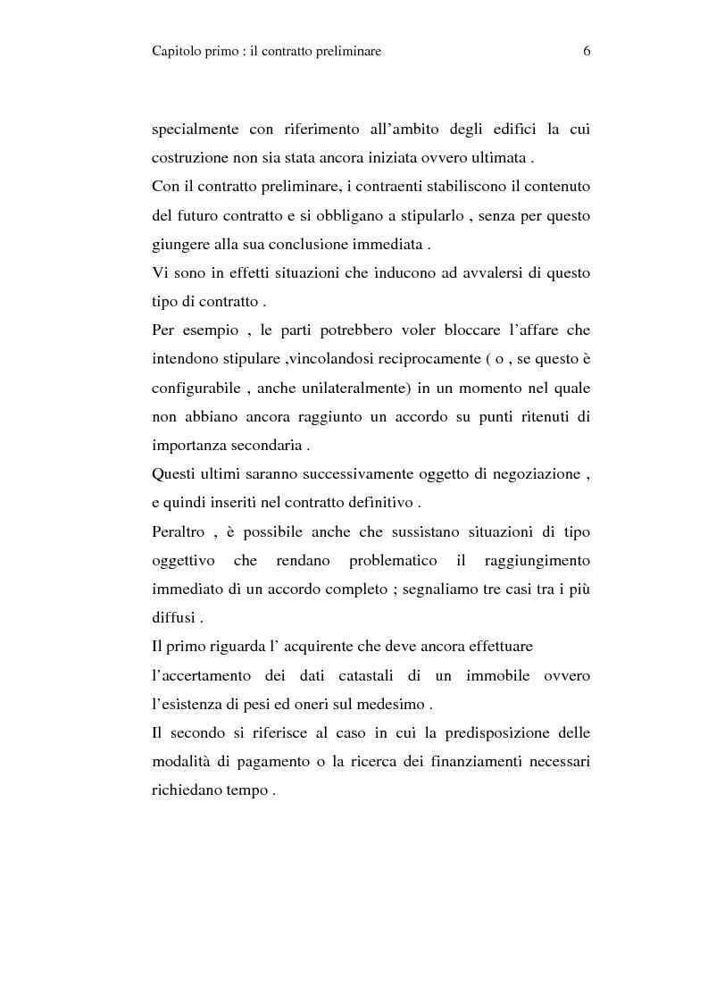 Anteprima della tesi: La trascrizione del contratto preliminare di compravendita immobiliare (diritto civile), Pagina 4