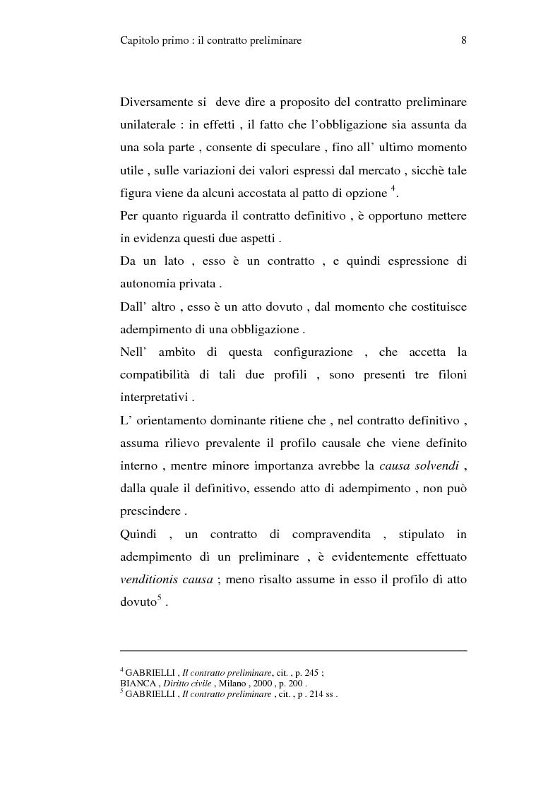 Anteprima della tesi: La trascrizione del contratto preliminare di compravendita immobiliare (diritto civile), Pagina 6