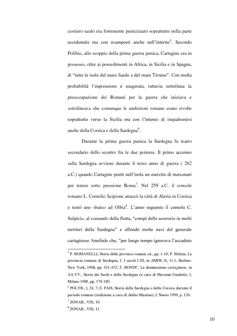 Anteprima della tesi: Le popolazioni non urbanizzate della Sardegna romana fra III sec. a.C. e IV sec. d.C., Pagina 11
