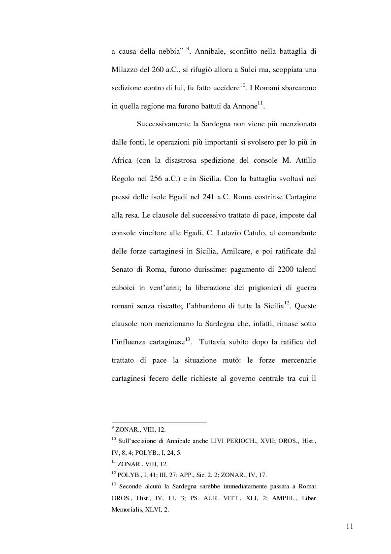 Anteprima della tesi: Le popolazioni non urbanizzate della Sardegna romana fra III sec. a.C. e IV sec. d.C., Pagina 12