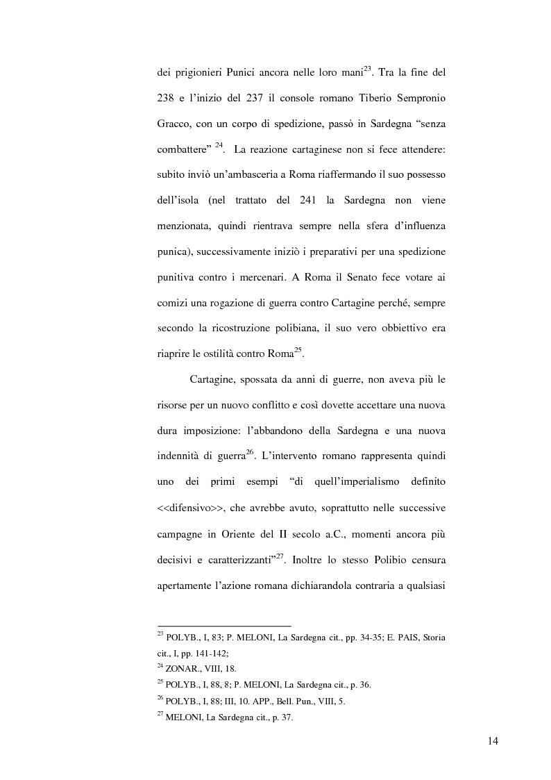 Anteprima della tesi: Le popolazioni non urbanizzate della Sardegna romana fra III sec. a.C. e IV sec. d.C., Pagina 15