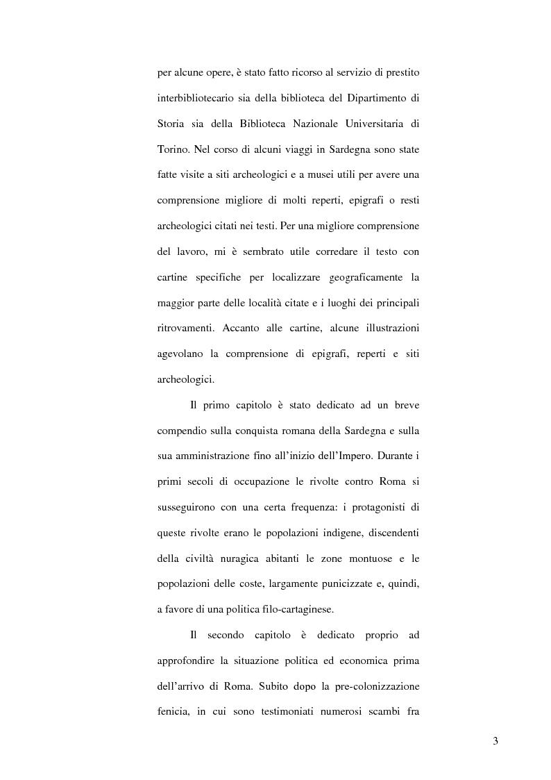 Anteprima della tesi: Le popolazioni non urbanizzate della Sardegna romana fra III sec. a.C. e IV sec. d.C., Pagina 4