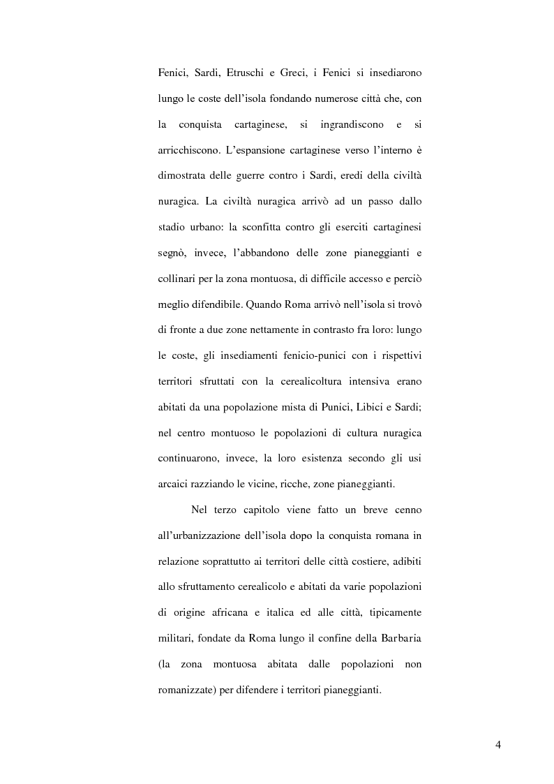 Anteprima della tesi: Le popolazioni non urbanizzate della Sardegna romana fra III sec. a.C. e IV sec. d.C., Pagina 5