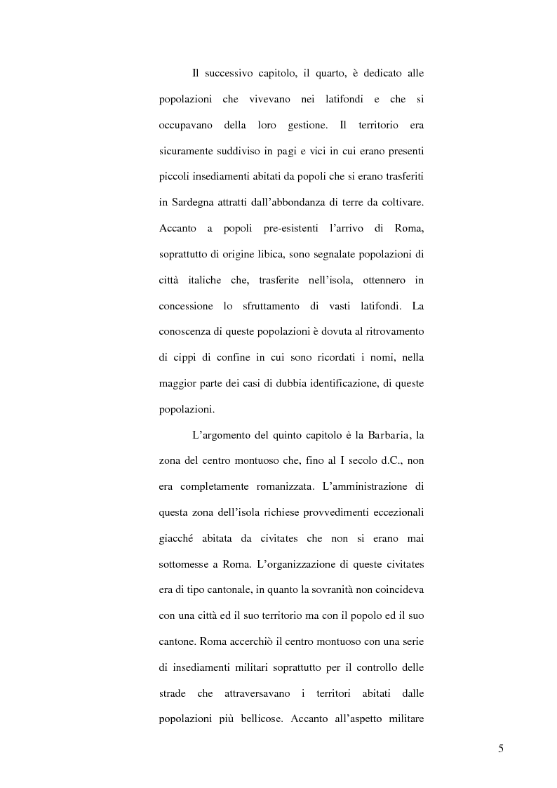 Anteprima della tesi: Le popolazioni non urbanizzate della Sardegna romana fra III sec. a.C. e IV sec. d.C., Pagina 6