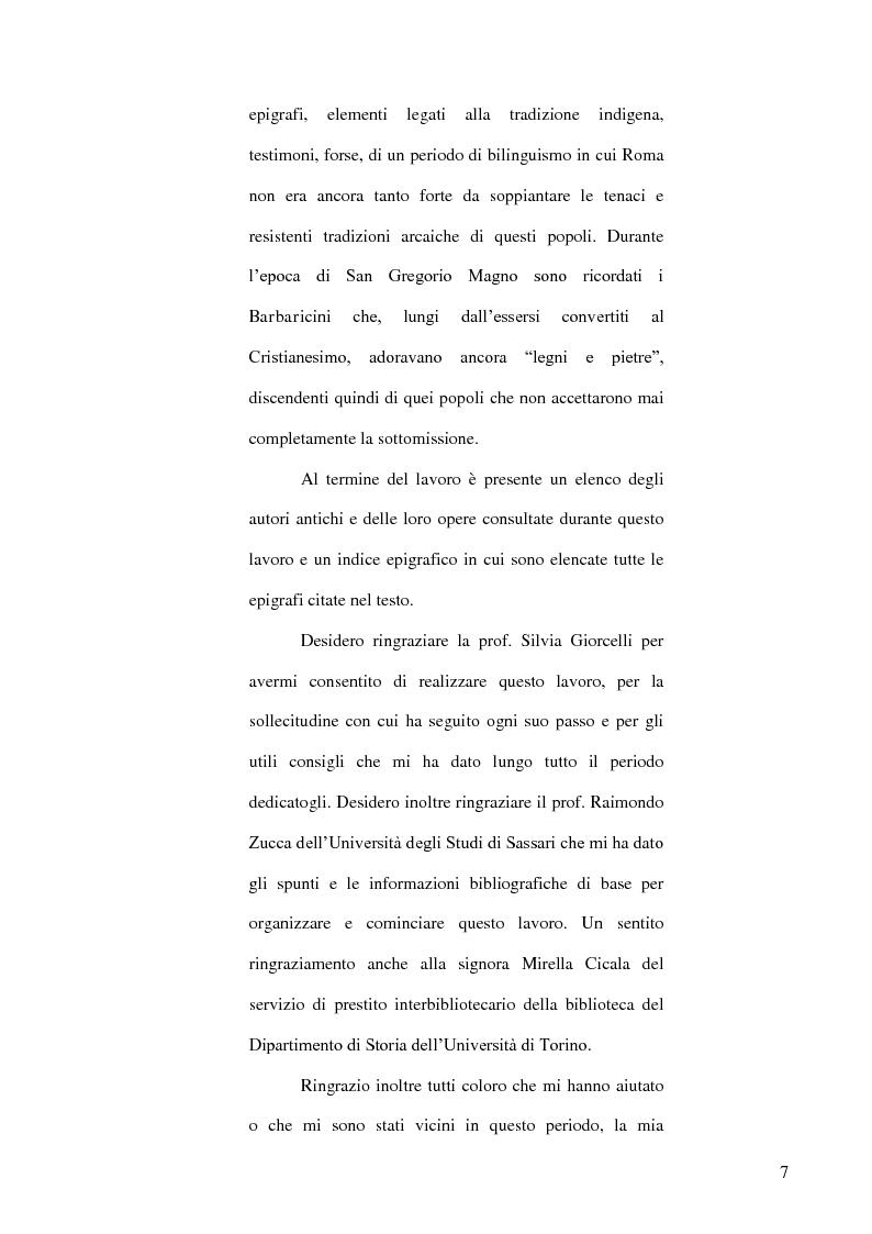 Anteprima della tesi: Le popolazioni non urbanizzate della Sardegna romana fra III sec. a.C. e IV sec. d.C., Pagina 8