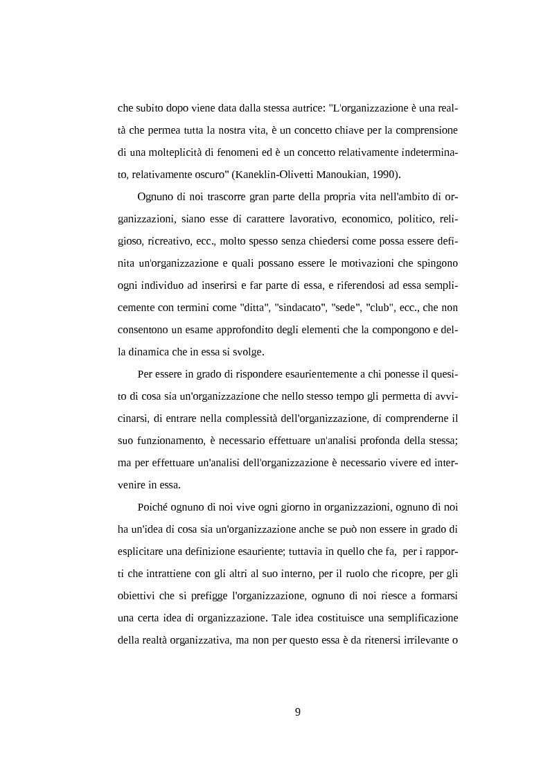 Anteprima della tesi: Il legame sociale tra individuo e organizzazione lavorativa, Pagina 8