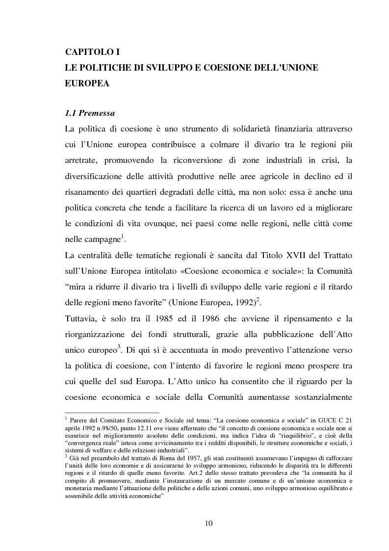 Anteprima della tesi: Le politiche strutturali della UE per il turismo, Pagina 6