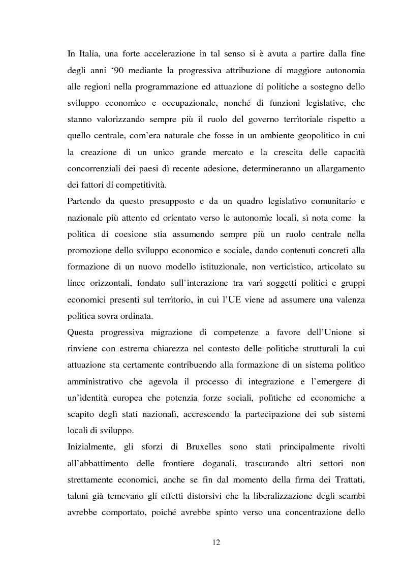 Anteprima della tesi: Le politiche strutturali della UE per il turismo, Pagina 8