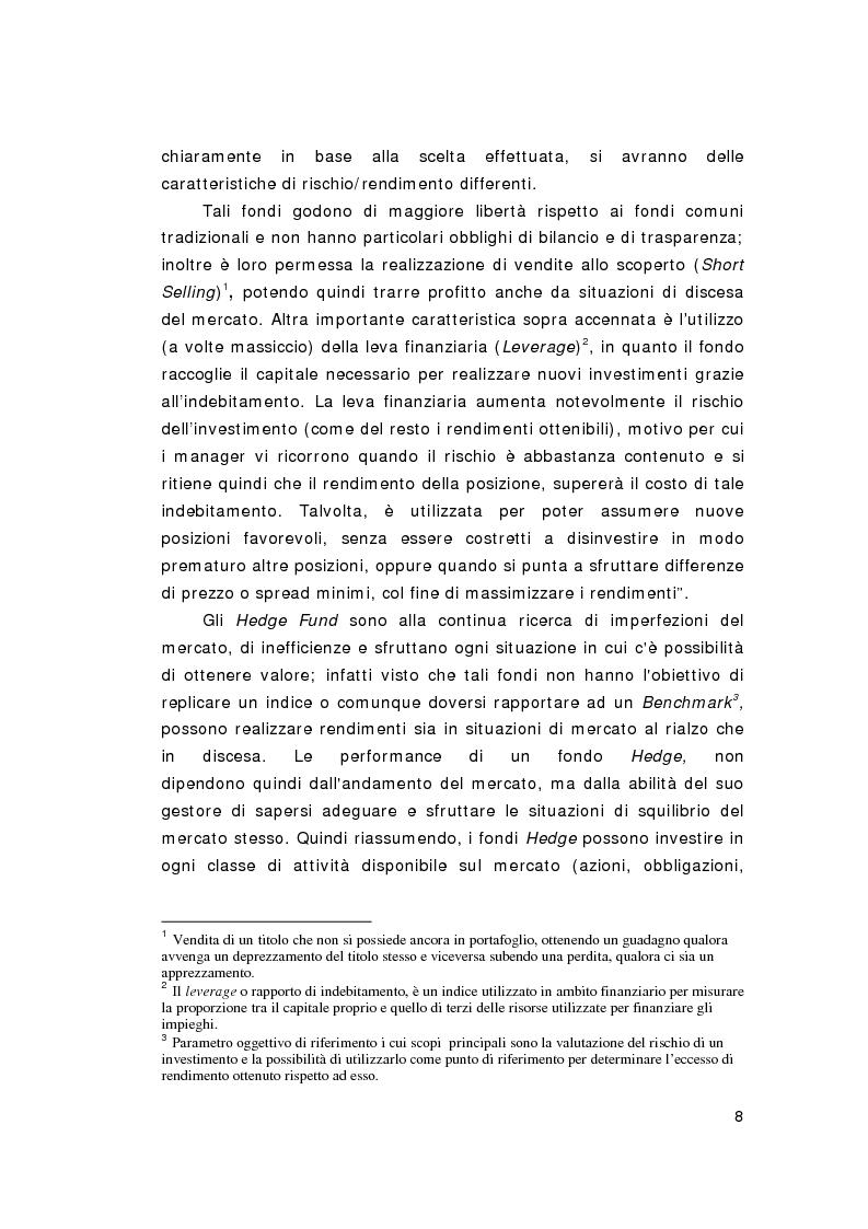 Anteprima della tesi: Hedge Funds: rischio o beneficio per l'economia?, Pagina 6