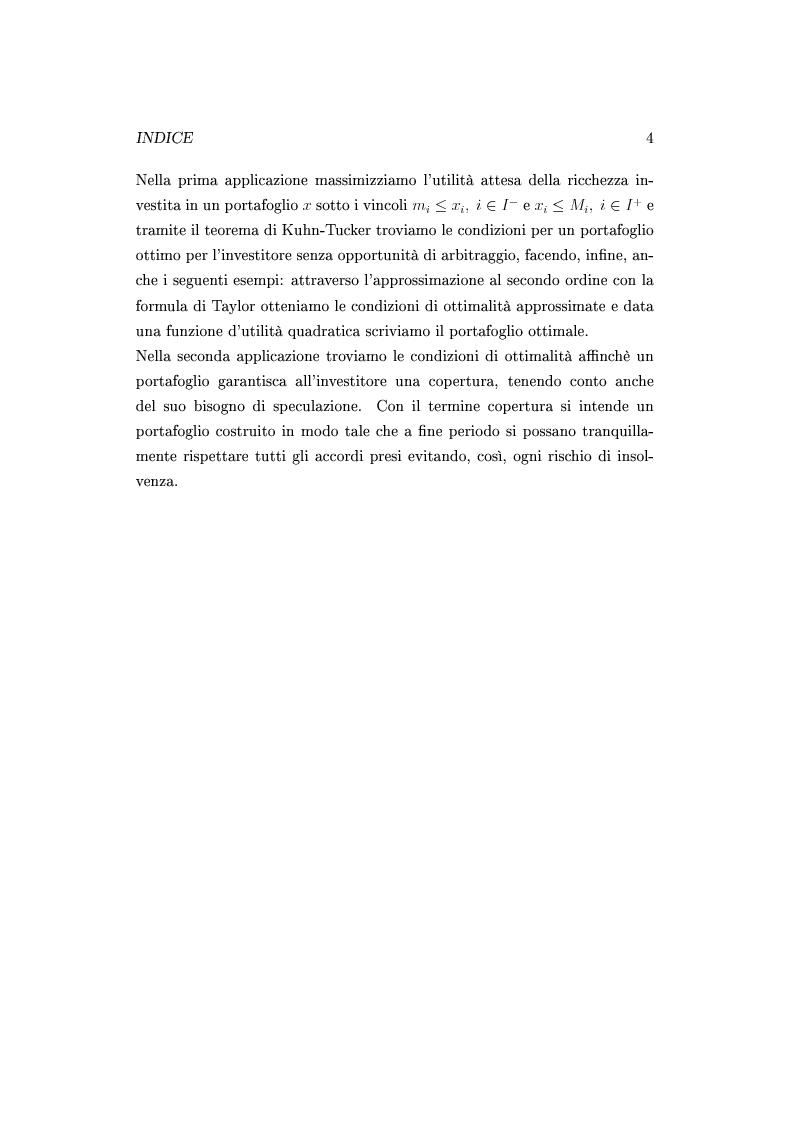 Anteprima della tesi: Il teorema di Kuhn-Tucker e applicazioni, Pagina 4