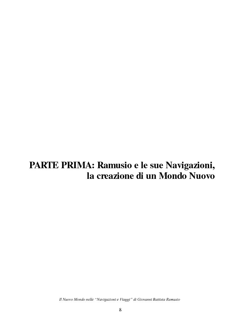 """Anteprima della tesi: Il Nuovo Mondo nelle """"Navigazioni e Viaggi"""" di Giovanni Battista Ramusio, Pagina 6"""