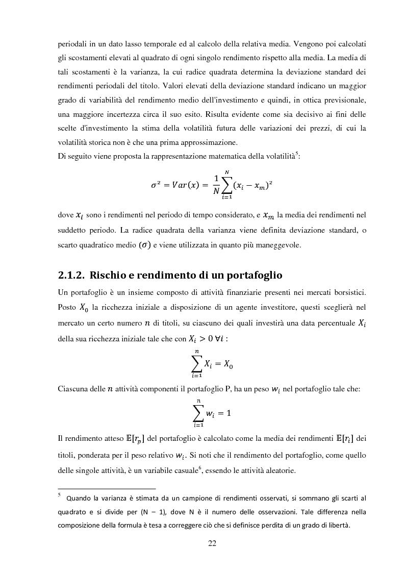 Anteprima della tesi: La gestione di un portafoglio azionario: il modello di Markowitz per la selezione di un portafoglio efficiente, Pagina 4
