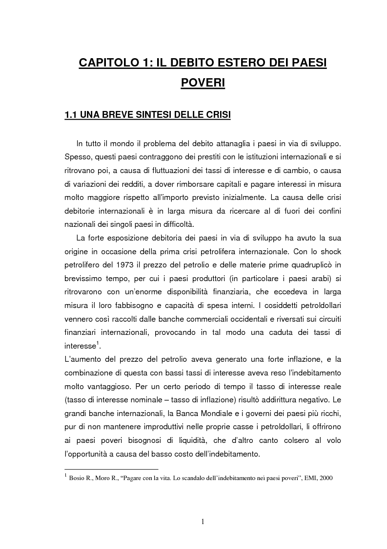 Anteprima della tesi: Il debito estero dei paesi poveri - le crisi del Brasile, Pagina 3