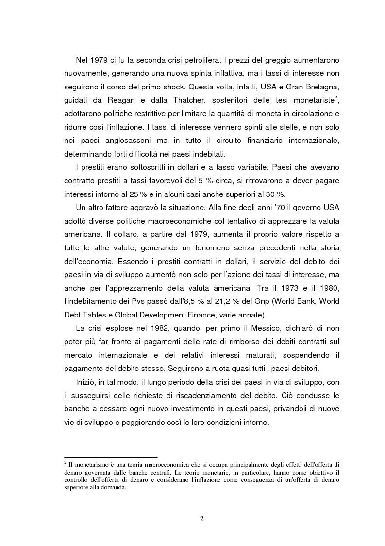 Anteprima della tesi: Il debito estero dei paesi poveri - le crisi del Brasile, Pagina 4