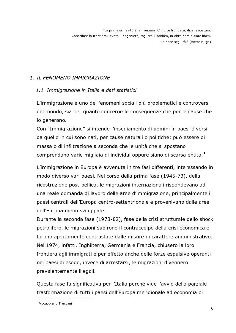 Anteprima della tesi: Integrazione dei minori stranieri nelle scuole milanesi: il progetto Start, Pagina 5