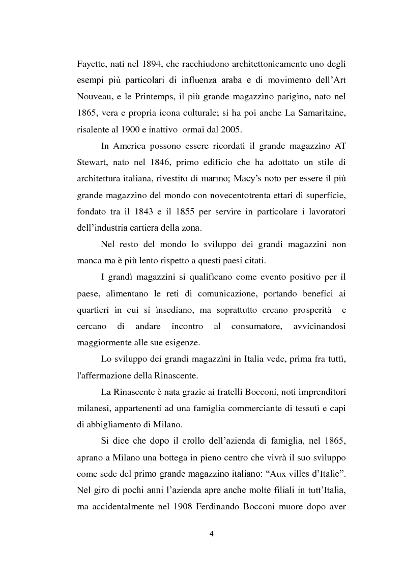 Anteprima della tesi: Il diffondersi dei grandi magazzini e il caso italiano della Rinascente, Pagina 3
